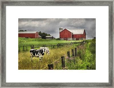 Mcclure Farm Framed Print by Lori Deiter
