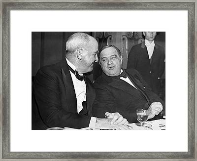 Mccook And Mayor Laguardia Framed Print by Underwood Archives