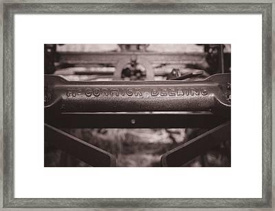 Mccormick Deering Framed Print