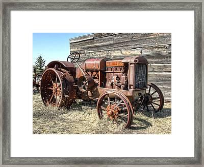 Mccormick-deering Hand-crank Start Tractor Framed Print