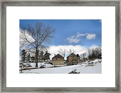 Mccormick Farm In Winter Framed Print by Todd Hostetter
