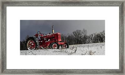 Mccormick Farmall Framed Print by Anthony Thomas