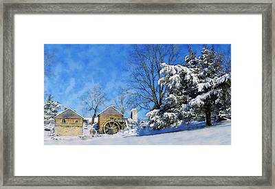Mccormick's Farm February 2012 Series V Framed Print by Kathy Jennings