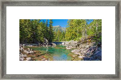 Mcdonald Creek Along Going-to-the-sun Framed Print by Panoramic Images