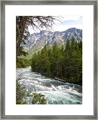 Mcdonald Creek In Glacier Np-mt Framed Print by Ruth Hager