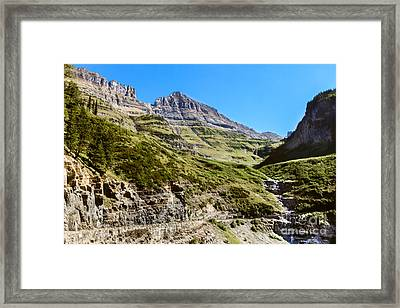 Mcdonald Creek  Framed Print by Robert Bales