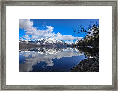Mcdonald Reflecting Framed Print by Aaron Aldrich