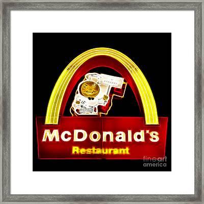 Mcdonalds - Electric Framed Print