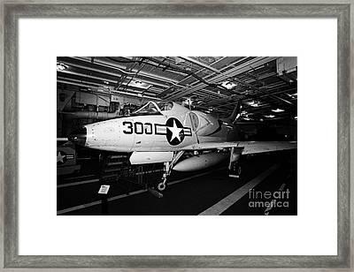Mcdonnell Douglas A4 A4b Skyhawk On The Hangar Deck Of The Intrepid Sea Air Space Museum Framed Print
