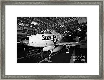 Mcdonnell Douglas A4b A4 Skyhawk On The Hangar Deck Of The Intrepid Sea Air Space Museum Framed Print