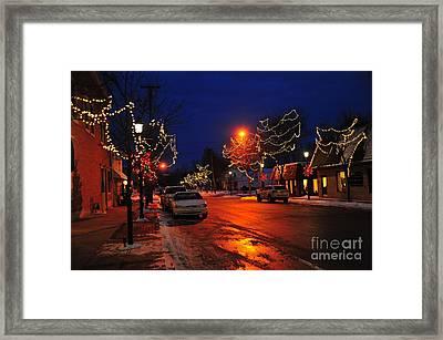 Clare Michigan Christmas Framed Print by Terri Gostola