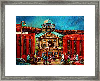 Mcgill Gates Montreal Framed Print
