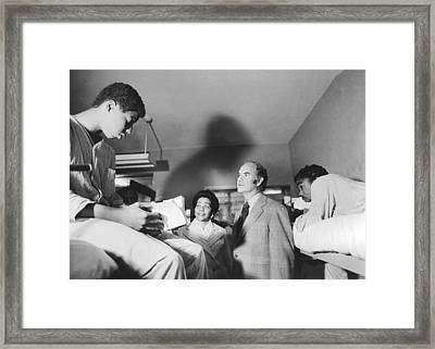 Mcgovern And Mrs. Coretta King Framed Print