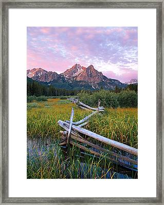 Mcgown Peak Framed Print by Leland D Howard