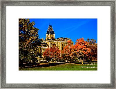 Mcgraw Hall Cornell University Framed Print
