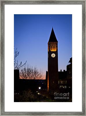 Mcgraw Tower Cornell University Framed Print