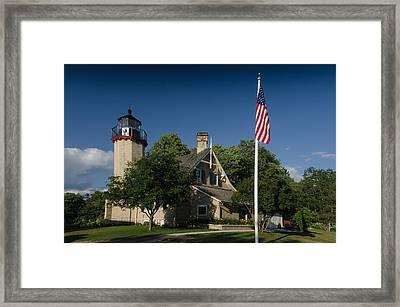 Mcgulpin Lighthouse Framed Print by Thomas Pettengill