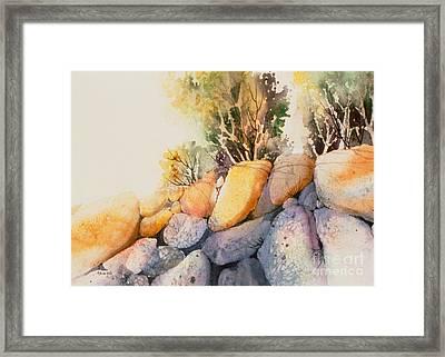 Mchugh Creek Impression Framed Print by Teresa Ascone
