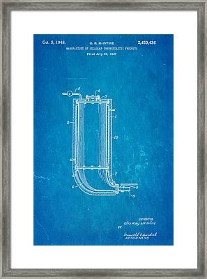 Mcintire Styrofoam Patent Art 1948 Blueprint Framed Print by Ian Monk