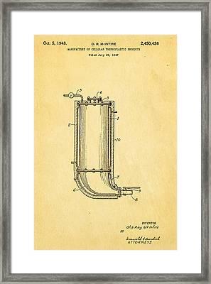 Mcintire Styrofoam Patent Art 1948 Framed Print by Ian Monk