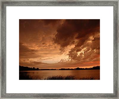 Mciver Lake Framed Print by James Peterson