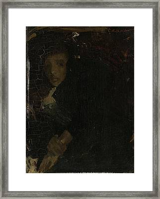 Mcj Marie Jordan 1866-1948, Wife Of The Painter Framed Print by Litz Collection
