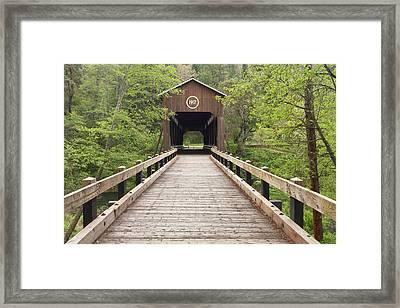 Mckee Covered Bridge, Jacksonville Framed Print by William Sutton