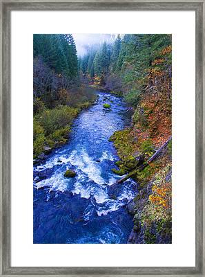 Mckenzie River In Autumn Framed Print