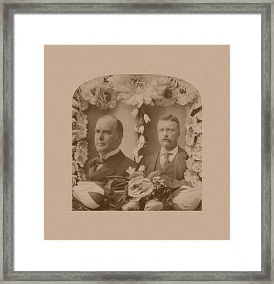 Mckinley And Roosevelt Framed Print by War Is Hell Store