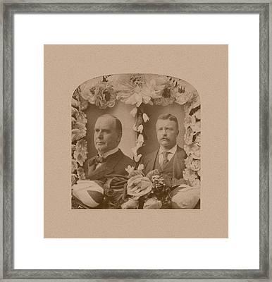 Mckinley And Roosevelt Framed Print