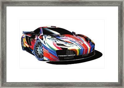 Mclaren Art Car Framed Print by Lyle Brown