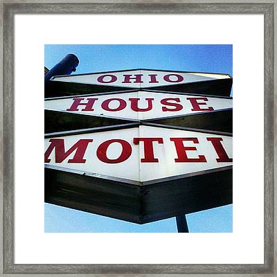 Mcm Motel Framed Print
