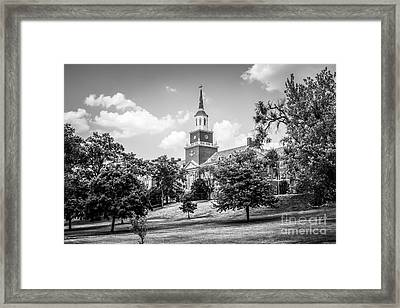 Mcmicken College Black And White Picture Framed Print by Paul Velgos