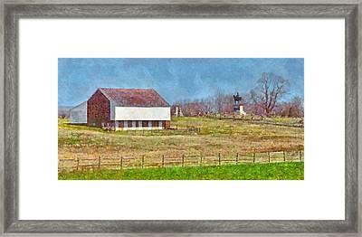 Mcpherson's Barn At Gettysburg National Military Park Framed Print