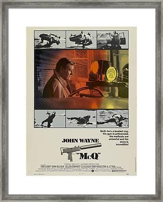 Mcq, John Wayne, Al Lettieri, 1974 Framed Print