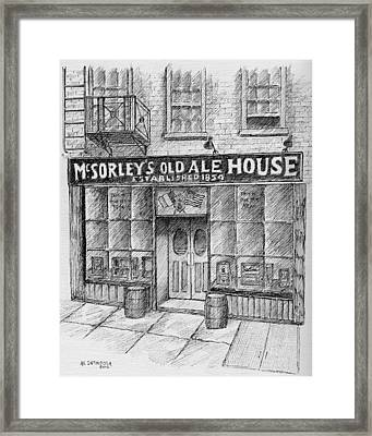 Mcsorleys Ale House Framed Print