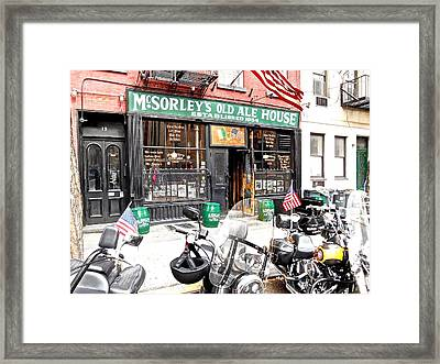 Mcsorley's Old Ale House Framed Print by Joan Reese