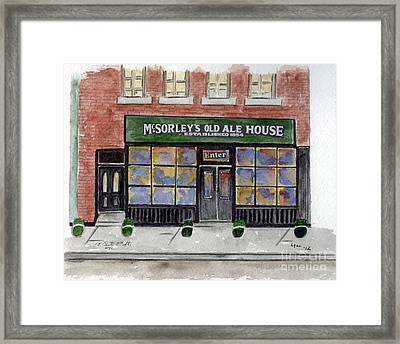 Mcsorley's Old Ale House Framed Print by AFineLyne