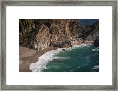Mcvay Falls... Big Sur  Framed Print