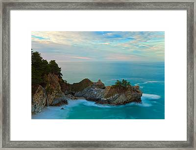 Mcway Falls At Sunrise Framed Print