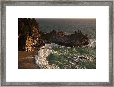 Framed Print featuring the photograph Mcway Falls 1 by Lee Kirchhevel