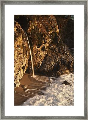 Framed Print featuring the photograph Mcway Falls 3 by Lee Kirchhevel