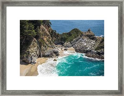 Mcway Falls Big Sur Framed Print by Priya Ghose