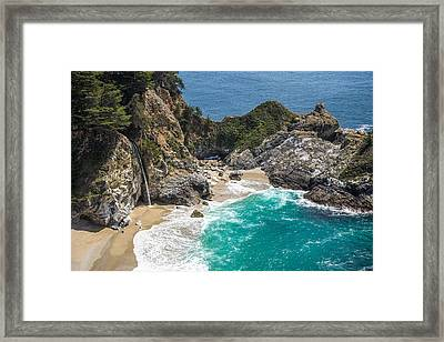 Mcway Falls Big Sur Framed Print