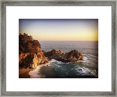 Mcway Falls California Framed Print by Colin and Linda McKie