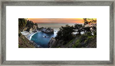 Mcway Falls Sunset Framed Print