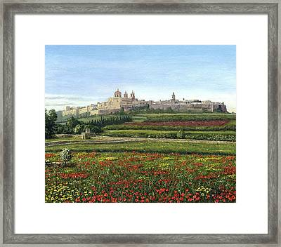 Mdina Poppies Malta Framed Print