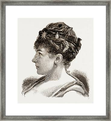 Mdme. Marie Roze, Of Her Majestys Opera Framed Print by Litz Collection
