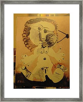 Me 12 1 68  Framed Print by Pablo Picasso