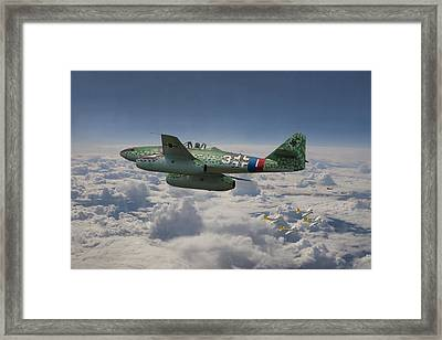 Me 262 - Stormbird Framed Print by Pat Speirs